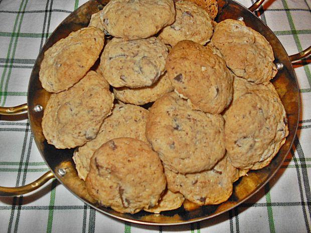 Ciasteczka z czekoladą i otrębami