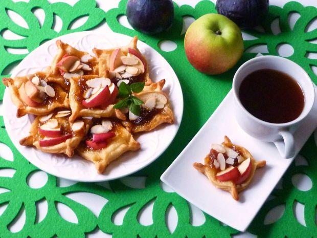 Ciasteczka z jabłkami i figowym dżemem