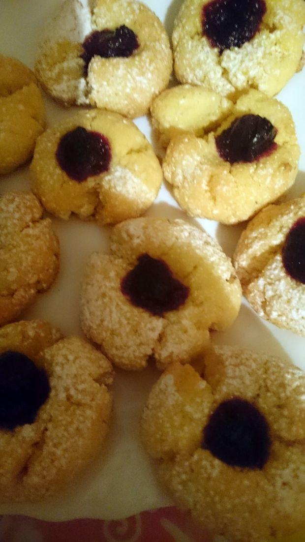 Ciasteczka z kleiku ryżowego (z konfiturą)