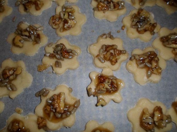 Ciasteczka z masą orzechową