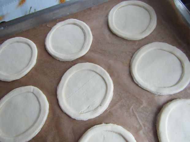 Ciastka francuskie z serem i mandarynkami