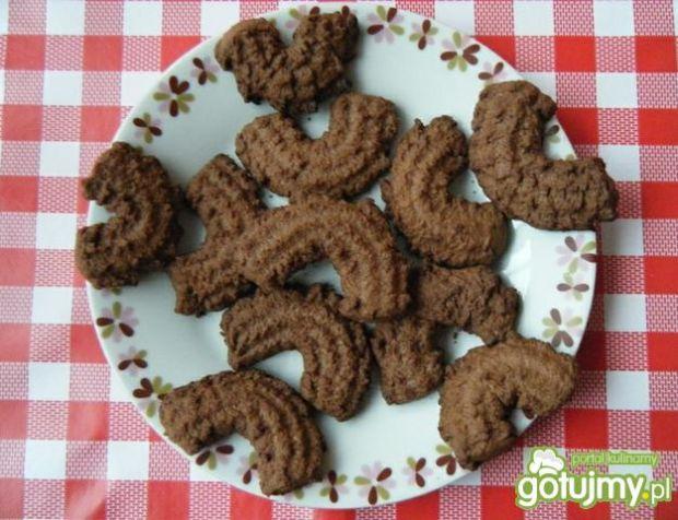 Ciastka maszynkowe orzechowo-kakaowe