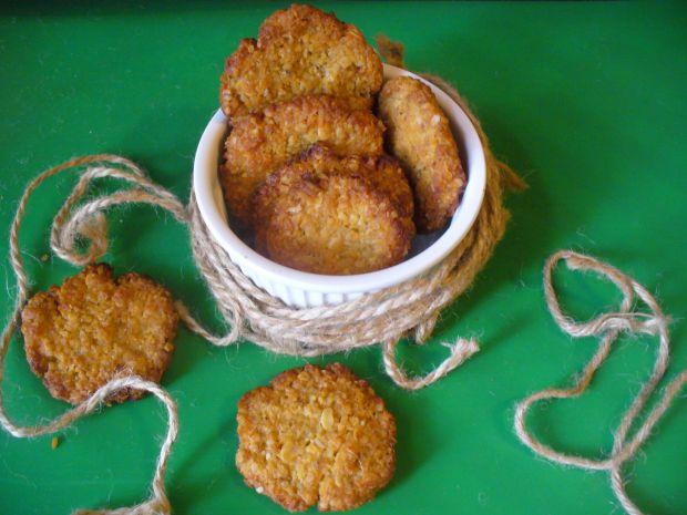 Ciastka z płatkami owsianymi i kokosem