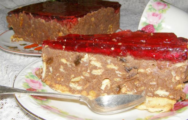 Ciasto bajaderka z nie udanej babki i herbatników