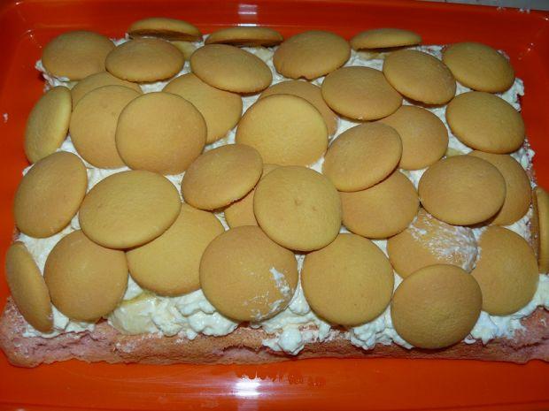 Ciasto Bananowa Pianka z Białą Czekoladą