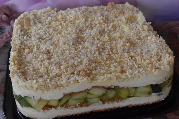 Ciasto bez pieczenia nutka jabłkową