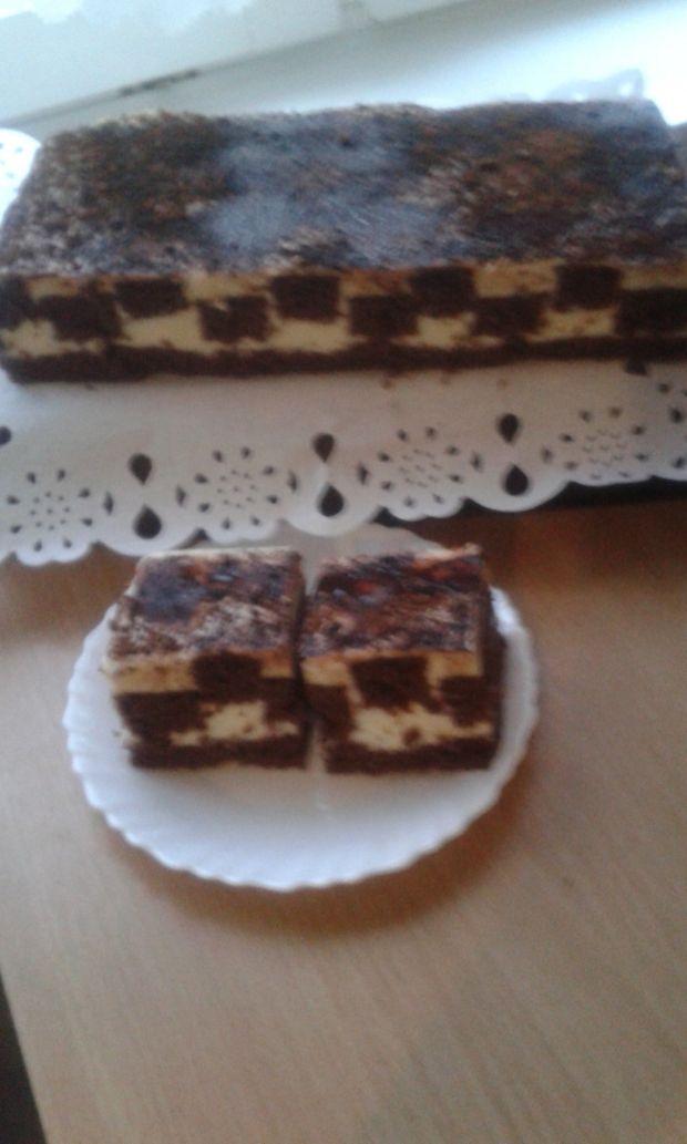 Ciasto biszkoptowe z kremem.