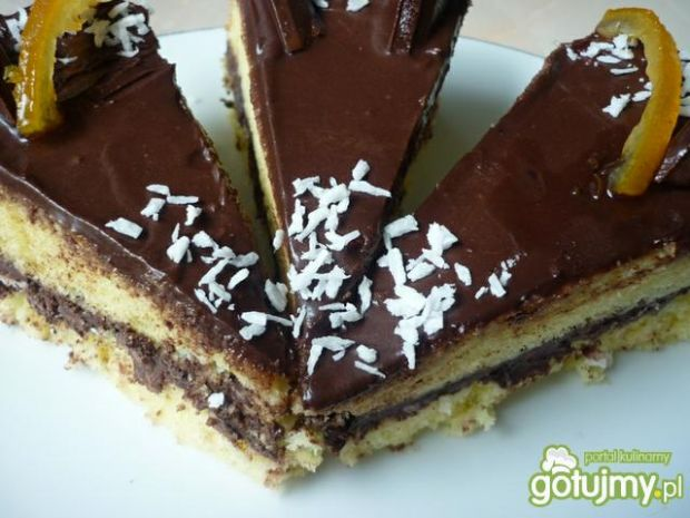 Ciasto biszkoptowe z masą z nutelli