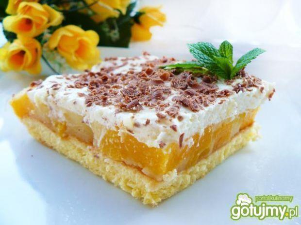 Ciasto brzoskwiniowe z pianką