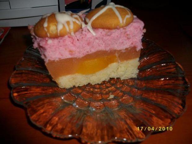 Ciasto brzoskwiniowo wiśniowe