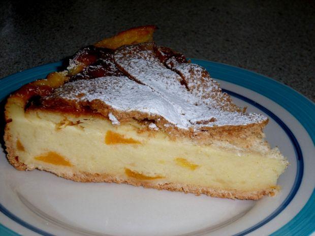Ciasto budyniowe z brzoskwiniami
