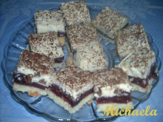 Ciasto budyniowo - wiśniowe