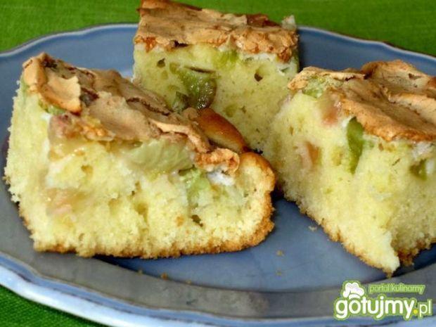Ciasto całoroczne z rabarbarem