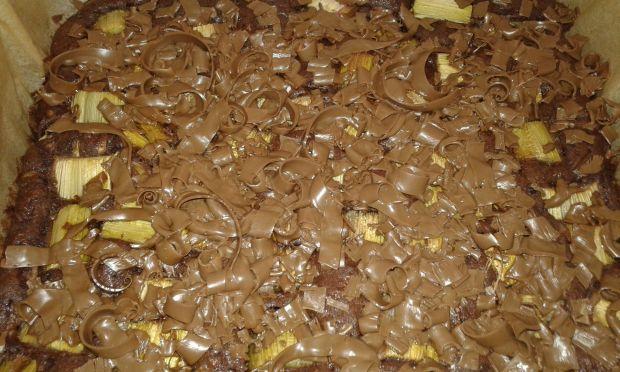 Ciasto cukiniowo - rabarbarowe z czekoladą