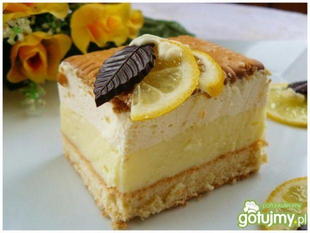 Ciasto cytrynowe z orzeźwiającym kremem