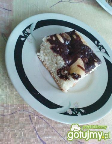 Ciasto czarno-białe z rodzynkami