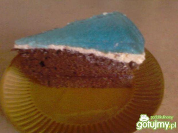Ciasto czekoladowe z kremem i galaretką