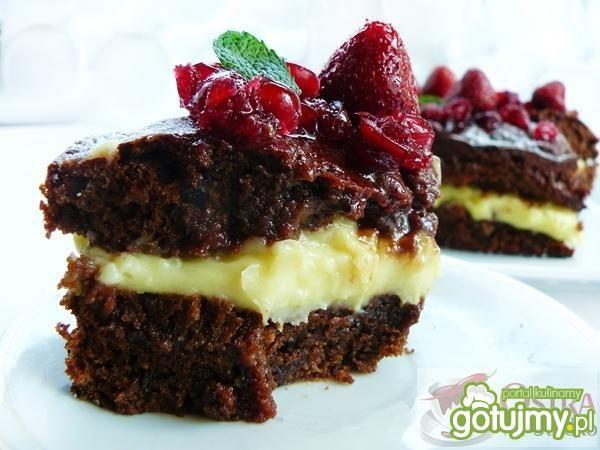 Ciasto czekoladowe z kremem karpatkowym