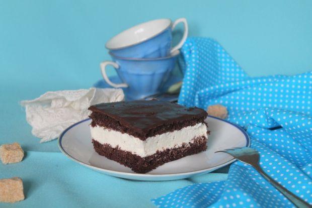 Ciasto czekoladowe z serową masą- bezglutenowe