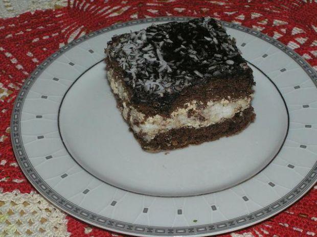Ciasto czekoladowe z wkladka kokosowa