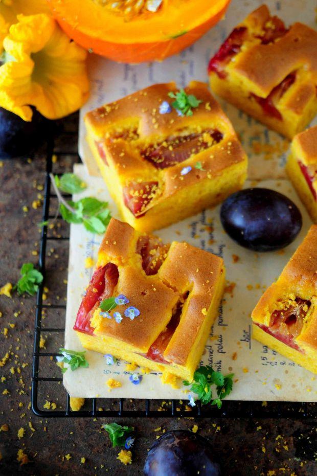 Ciasto dyniowo - śliwkowe