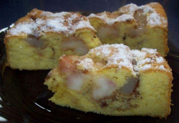 Ciasto jabłkowo – gruszkowe