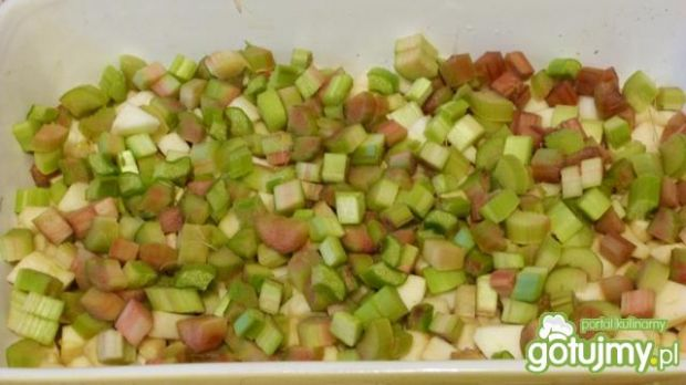 Ciasto jabłkowo-rabarbarowe