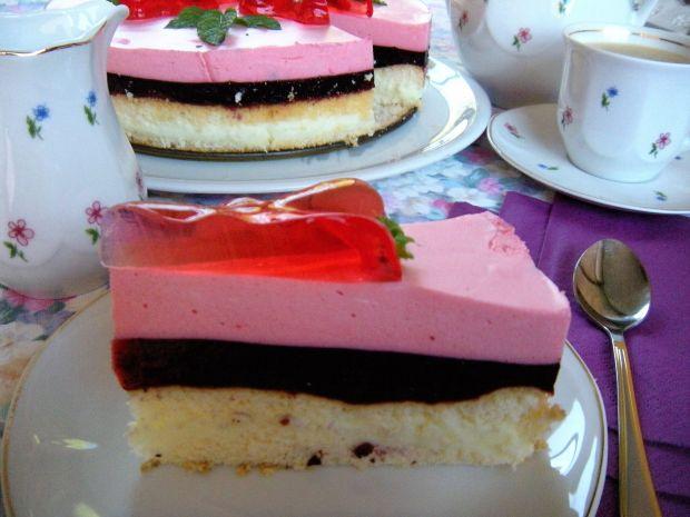 Ciasto jagodowo-truskawkowe
