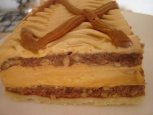 Ciasto kakaowe z kremem toffi