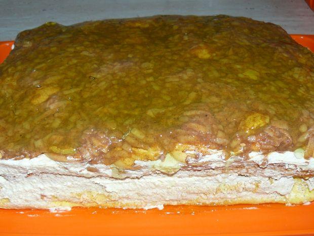 Ciasto Kawowe z Kokosem i Jabłkami
