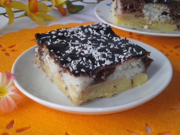 Ciasto kokosowo- biszkoptowe z jabłkami