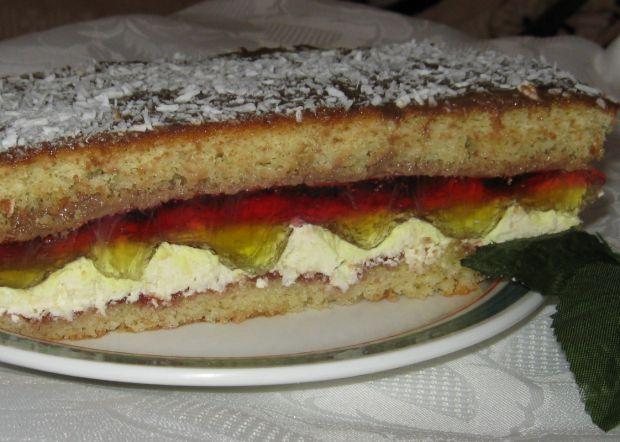 Ciasto kolorowe z masą wiórkową