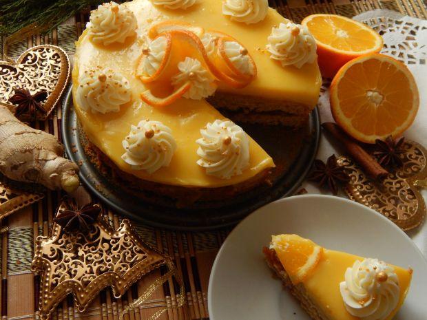Ciasto korzenne z pomarańczami