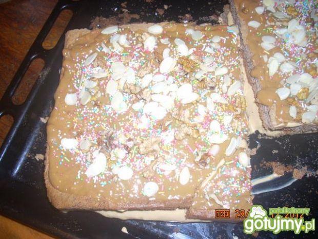 Ciasto krówkowe na dużą blachę
