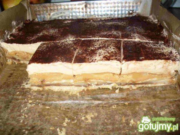 Ciasto krówkowe z budyniem