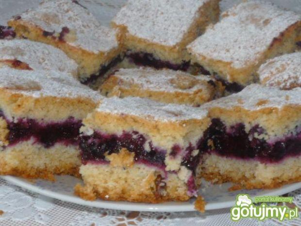 Ciasto kruche z borówkami