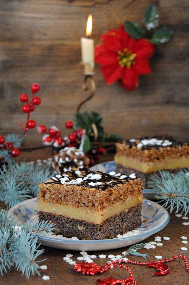 Ciasto makowo- orzechowe
