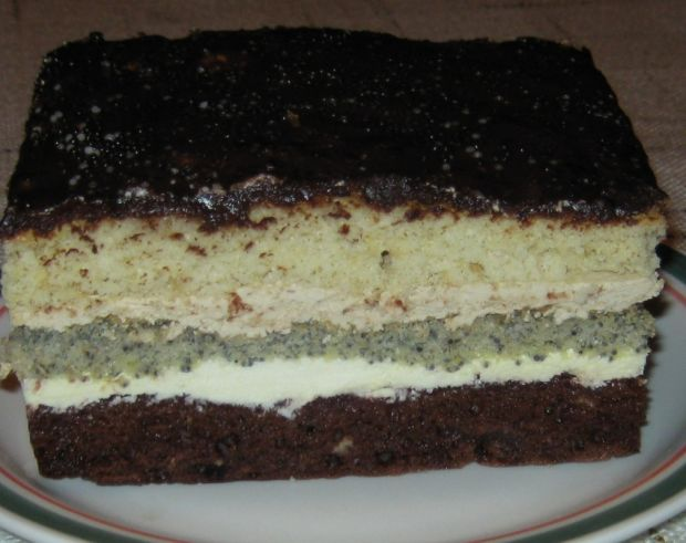 Ciasto makowo piernikowe