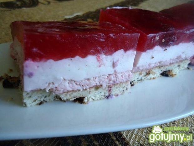 Ciasto malinowe z galaretką