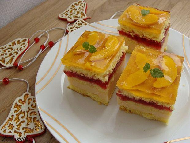 Ciasto malinowo-brzoskwiniowe