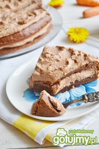 Ciasto marchewkowe z kremem czekoladowym