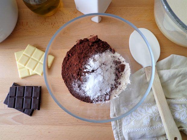 Ciasto muffin mocno czekoladowe