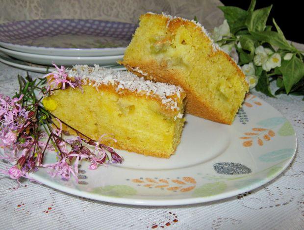Ciasto na oleju z rabarbarem