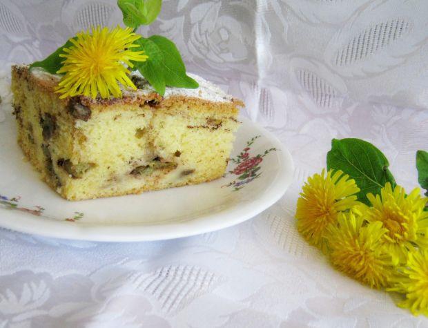 Ciasto na oleju z rabarbarem w kakao
