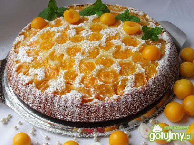 ciasto odwracane z mirabelkami