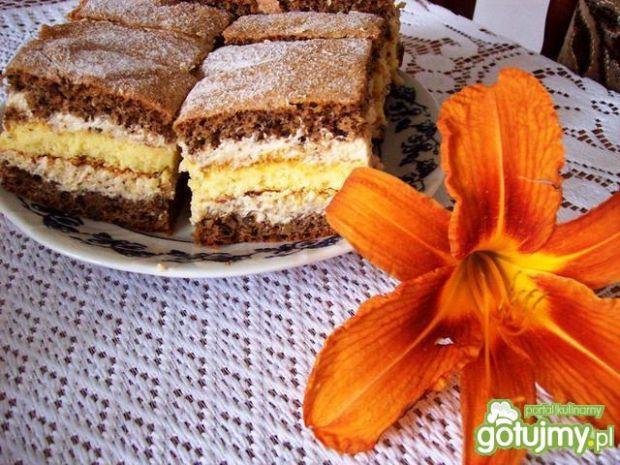 Ciasto orzechowe z serem