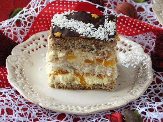 Przepis Ciasto Orzechowo Kokosowe Z Kremem Brzoskwiniowym Przepis