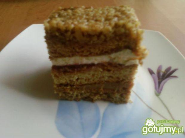 Ciasto orzechowo - miodowe