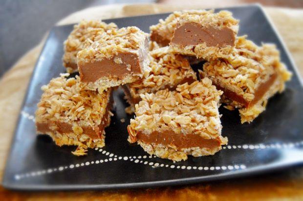 Ciasto owsiane z czekoladą i krówką