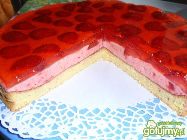 Ciasto piankowe z galaretką.